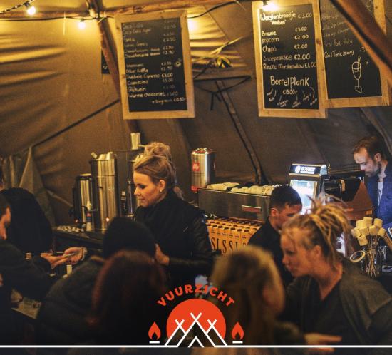 Glow 2017 Zwart Wit Koffie Etenswaar Vuurzicht.Bar