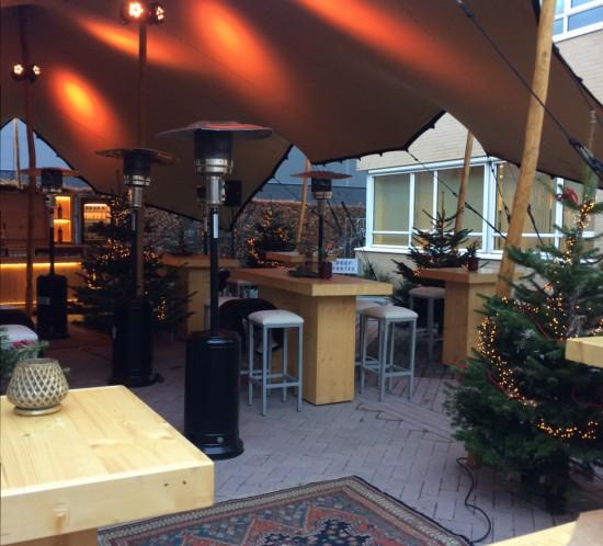 Mooie tent Endhovens Rondje Etenswaar kerst 2017 Fortec